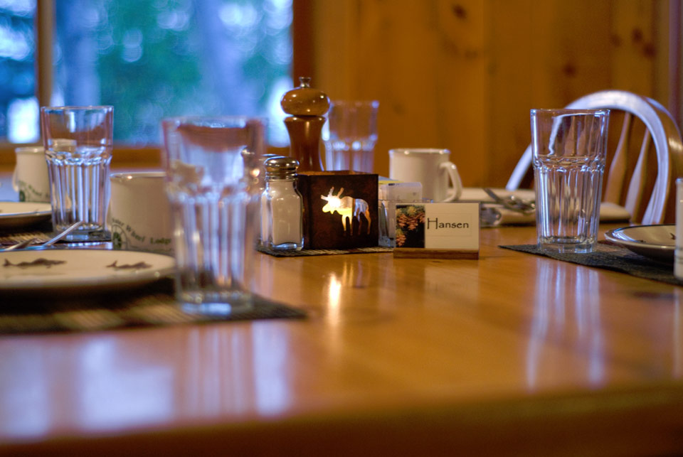 Dining at Silver Water Wheel Lodge