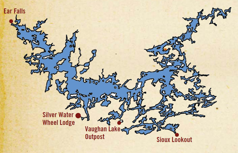 Location silver water wheel lodge for Lac seul fishing report