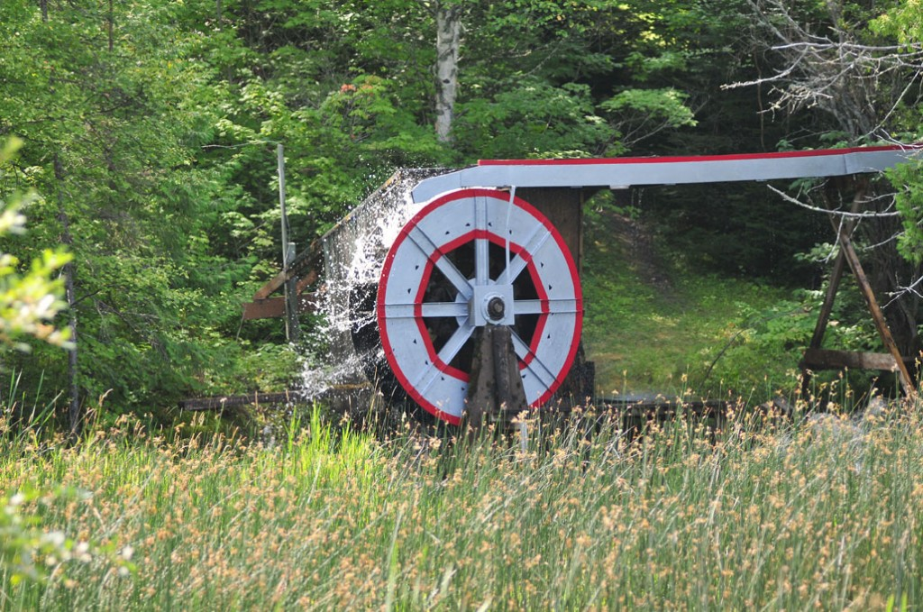 Silver Water Wheel in Motion